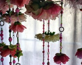 YOUR WEDDING Hanging Flower Decorations Set of 8