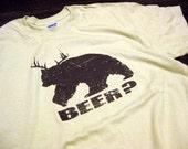 Bear plus Deer equals Beer T-Shirt Funny Hunting Fishing Drinking Humor Tee Shirt Tshirt Mens Womens S-3XL Great Gift Idea