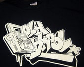 Old School T-Shirt Graffiti Retro Boom Box Hip Hop Street Urban Tee Shirt Tshirt Mens Womens S-3XL Great Gift Idea