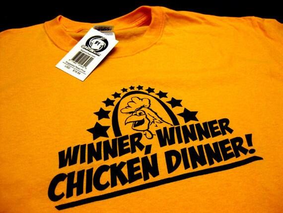 Winner Winner Chicken Dinner T-Shirt Funny Vegas Blackjack Gambling Gag Poker Cards Tee Shirt Tshirt Mens Womens S-5XL Great Gift Idea
