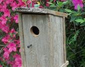 Weathered Cedar Outhouse Birdhouse