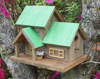 "Rustic Cedar ""Duplex"" Birdhouse"