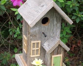 """Rustic Cedar """"Condo"""" Style Birdhouse"""