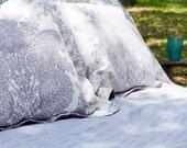 Lavender Seersucker Duvet Cover