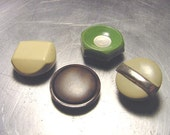 VINTAGE Buttons APPLIANCE knobs Metal Plastic Mother of Pearl