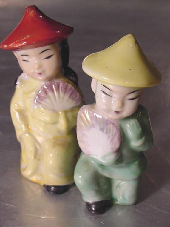CHINESE Japanese Couple VINTAGE Figurines