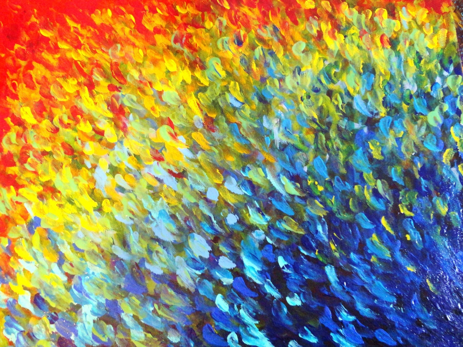 Sale original abstract acrylic painting colour splash water for Abstract painting in acrylic