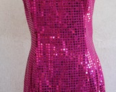 Hot Pink Sequin Party Dress
