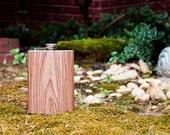 Oak Woodgrain Stainless Steel Hip Flask