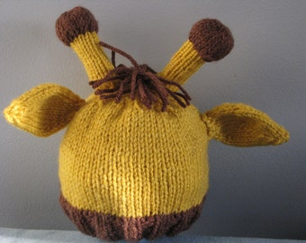 Knit Giraffe hat
