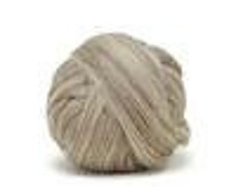 Oatmeal Blue Faced Leicester Fiber for Spinning - 4 oz.