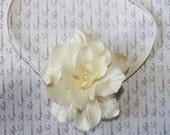 Ivory Pearl Headband, Newborn Headband, Baby Girl Flower Headband, Photography Prop