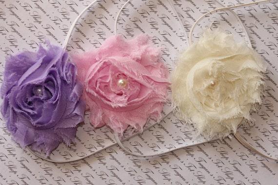 Ready for Spring Chiffon Baby Flower Headbands, Newborn Headband, Baby Girl Flower Headband, Photography Prop