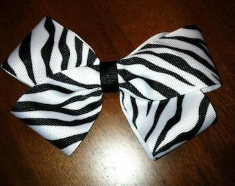 Zebra Hair Bow