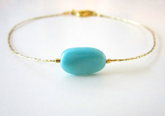 Something Blue Turquoise Bride Anklet