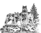WOLF BROTHERS mouse pad - custom mouse pad, wildlife mouse pad, wolf, wildlife, animal, Computer Accessory, Office