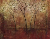 FALL TREES Abstract nature painting, fine art painting, wall decor, home decor, office decor