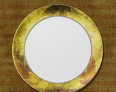 Rustic Leaf Melamine Dinner Plate, leaf, fall, autumn, plate, table ware, thanksgiving plate, serving plate