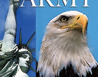 Symbols of Freedom Military Branches, patriotic card, Support or Troops
