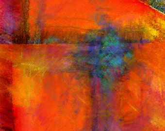 ORANGE - Abstract painting, abstract art, digital painting, art, wall decor, home decor, office decor
