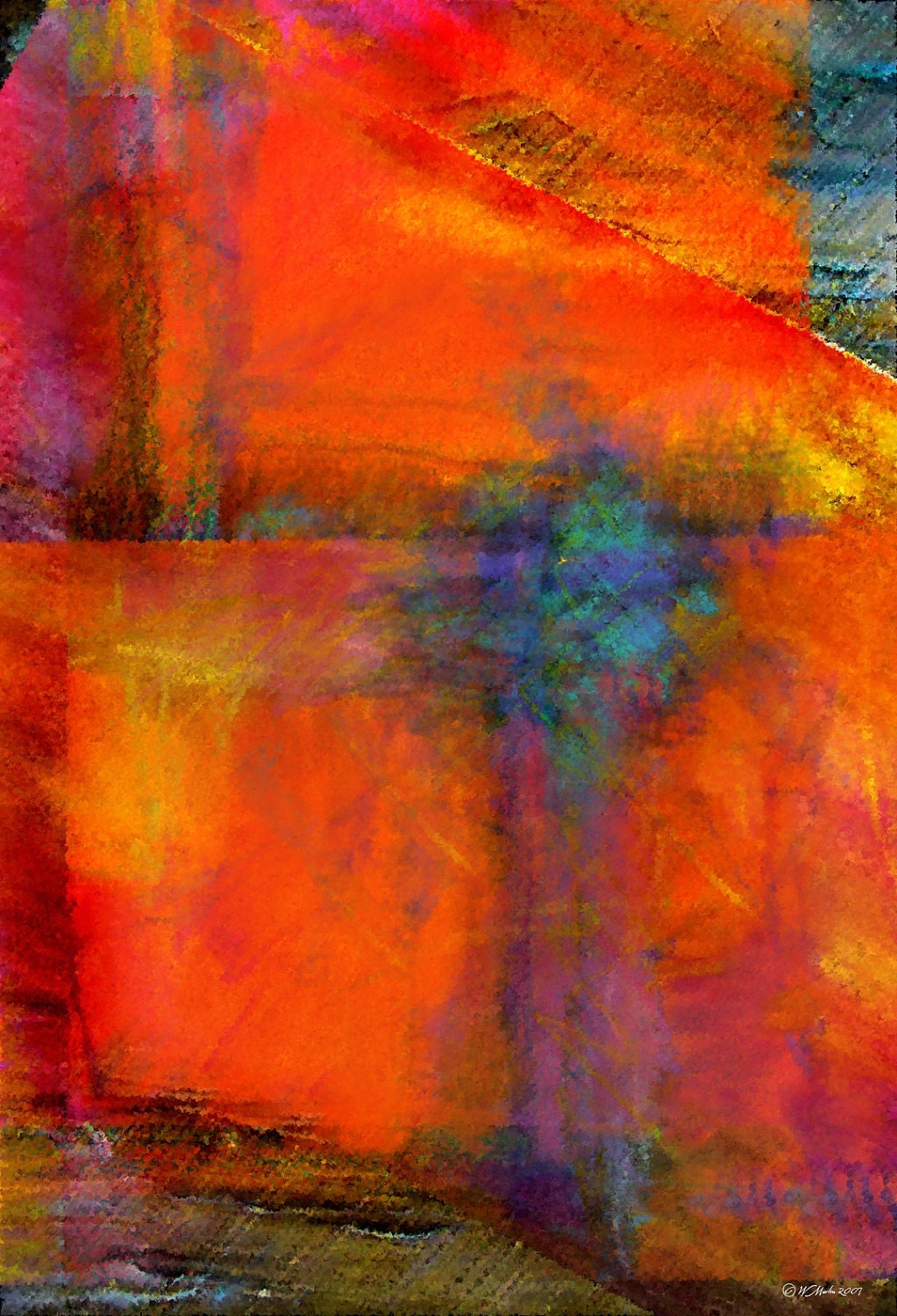 orange abstract painting abstract art digital painting