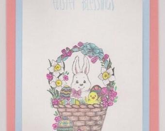 Easter Blessings Basket card