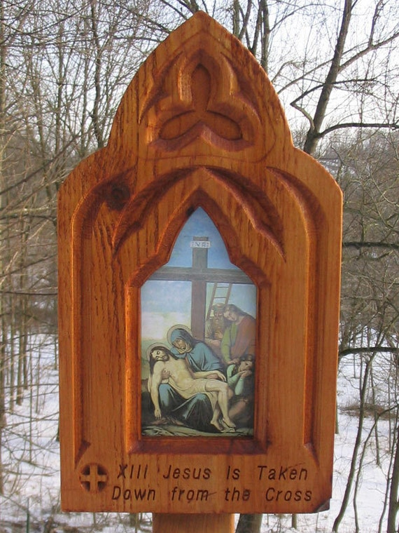 Stations of the Cross-  Full set of 14,   Outdoor Stations of the cross, Ceramic/ Porcelain wayside shrines