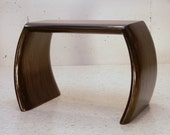 Table, Bench, Stool, Side Table, Black, Ebony, Organic Feel, Mid-Century Look, Sculptural Art, Sculpture, Handcrafted, Desinger,Contemporary