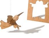 postcard wood - 3 angelcards