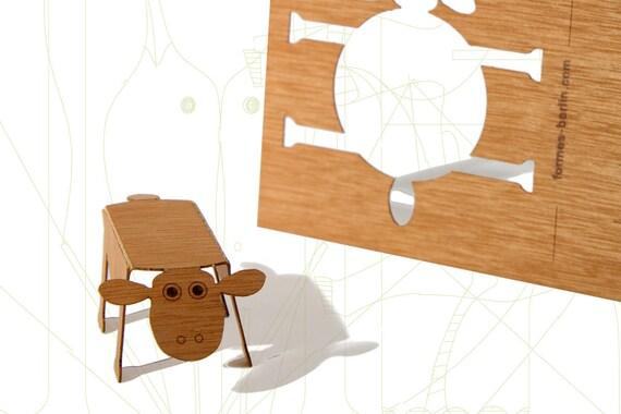 postcard wood - 3 sheepcards