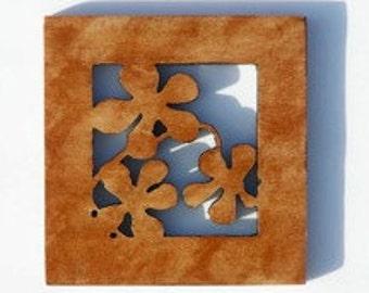 Wooden Wall Art, Plumeria Design