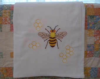 Honey Bee Flour Sack Dish Towel