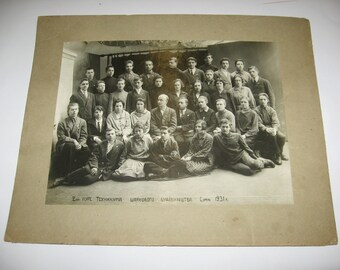 Vintage Photo College students, 1931... Vintage Photography, Collectible, USSR