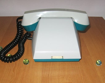 Telephone, Antique phone, Phone, Retro telephone, Rotary phone, Turquoise telephone, Rotary telephone, Antique telephone