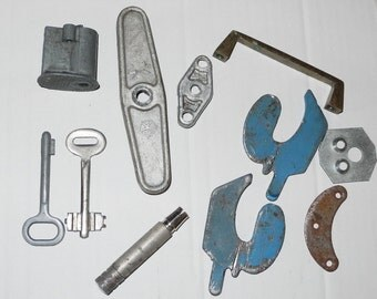 Vintage aluminum.. valve water, from USSR, collection, collage..11 pieces