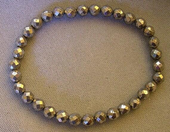 Pyrite Stretch Bracelet for Men