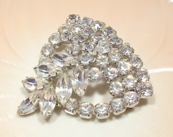 Fabulous Large Rhinestone Brooch