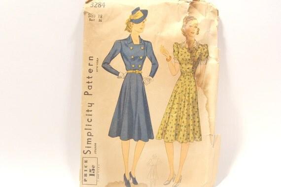 Simplicity Dress Pattern 3234 Size 18
