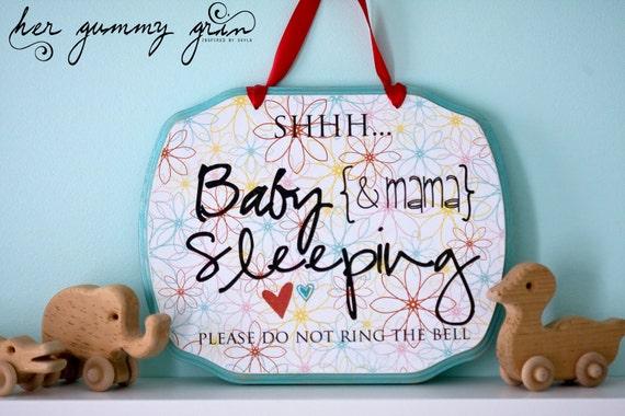 BABY & Mama SLEEPING SIGN Custom Made For You 11 x 9