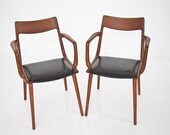 2 stylish midcentury wood chairs