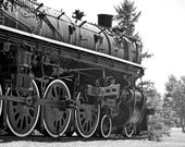 Train 2 8 x 10 inch Fine Art Print black and white travel vintage transportation boys collect engine