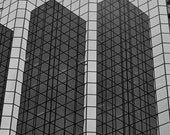 Up  Fine Art Print 11 x 14 inches Building sky scraper glass reflection black and white Ottawa Ontario Capital lines geometrics