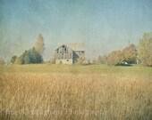 Farm 5 x 7 inch Fine Art Print Photo rustic barn vintage inspired field hay country landscape