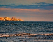 Sunset over British Columbia light house fine art print water ocean canada