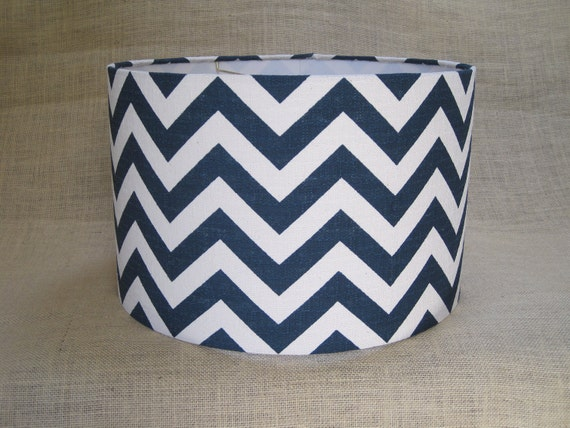 items similar to lamp shade drum lampshade pendant navy. Black Bedroom Furniture Sets. Home Design Ideas