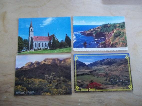 Lot of 4 Old Postcards-Assorted -Oregon, USA-Lot 48
