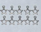 Tibetan Silver Small Star Charm