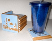 Lighthouses Coaster Set Drink Coasters