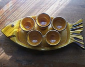 Shot Glasses on Fish Shaped Plate
