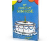 Birthday Cake, Made to order, Personalized Keepsake Story Book, Child Story or Adult Gag Gift Version